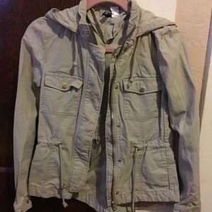 H&M Khaki Hooded jacket